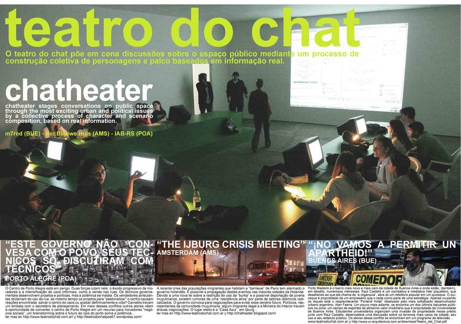 teatro del chat poster